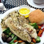 Enjoyable grilled talapia.
