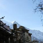 Vista do hotel e Mont Blanc