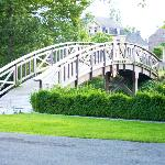 The cute bridge over the moat