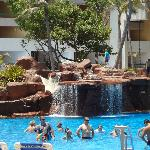 Pool waterfalls