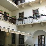 Courtyard of restaurant