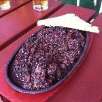Bizarre but by all accounts tasty black pudding dish