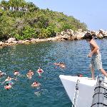 snorkeling stop