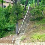 "filming location for movie ""dirty dancing"". Stairs where ""baby"" walked carryng a watermelon."