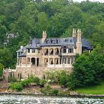 one of many expenive homes on lake lure.