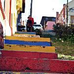 Escalinatas que conducen al Hostel