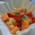 Salade de fruits maison au petit déjeuner