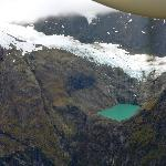 Flying over the Fiords and Mountains to Milford Sound