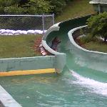 The Slide which is next to the pool