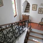 Lovely staircase; washer/dryer available to guests