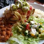chimichanga (deep fried burrito) main meal
