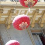 chinatown 3 lanterns in sky