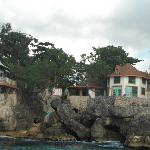 View of the cottages from Famous Vincents boat