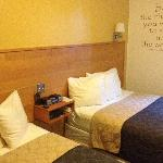 Our renovated rooms also feature double beds.