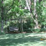 Swing on the upper lawn