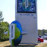 Playdium sign