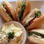 the Coronado Special sandwich with potato salad