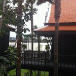 Thai house restaurant facing the river