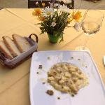 Scrumptious homemade gnocchi with black truffle!