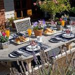 Outdoor Breakfast Setting, Bellerive House