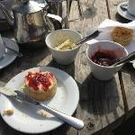 Cream tea at the Weir