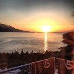 Solnedgång från balkongen