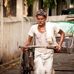 The Calcutta Rikshaw-puller