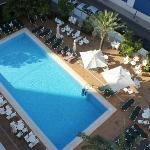 View of the pool from 708