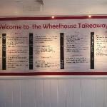 The Wheelhouse restaurant Dartmouth takeaway menu