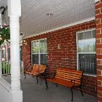 have a seat and relax on our front patio