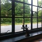 View from the window - I slightly covet the stag head cast iron candlestick!