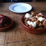 Tapas - Chorizo and squid
