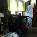 En la sala de estar del Hostel, mi último día de mi primer viaje a Catania (volví dos meses desp