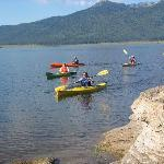 Lake Cascade offers a peaceful place to go kayaking or canoeing.