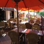 the outside tables