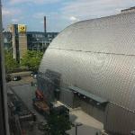 Aussicht (Rückseite) auf Stadthalle