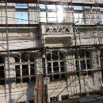 Gerüst / Bauarbeiten an der Fassade