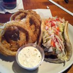 gyro and onion rings