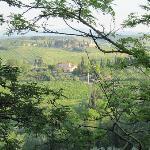 uitzicht nabij S.Gimignano (vanaf terras restaurant).