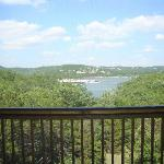 Off the deck (screened in) Lodge 17, Unit 5