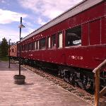 Rail cars at Lake Louise Station