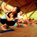 Yoga Class at Boca Sombrero