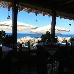 utsikt fra restauranten.