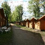 Large Cabins on Left, Small Cabins on Right