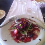 carpaccio of veal with Parmesan
