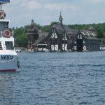 The Gananoque Boat line tied up at Heart Island