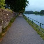 Walkway along River Ness to get to Centre-It's 10 p.m.