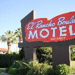 El Rancho Boulder Motel sign