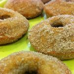 cinnamon and sugar donuts, gluten-free and dairy-free