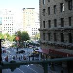 view of Union Square from my room